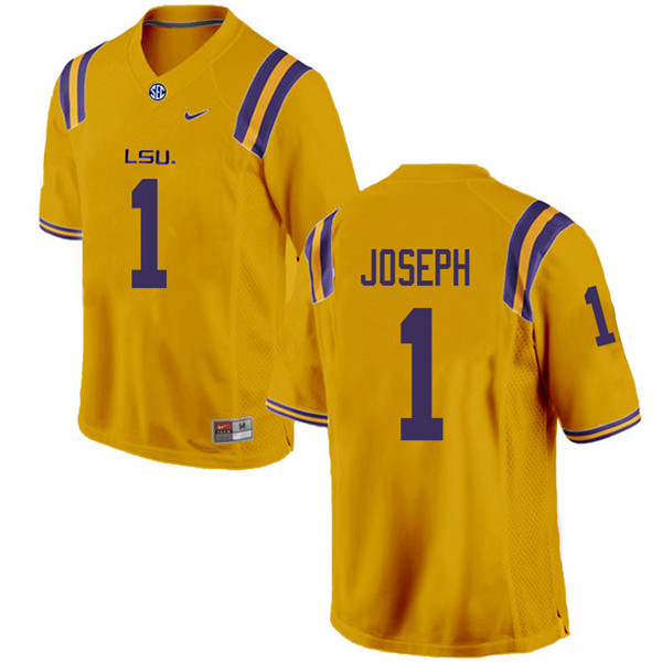 Men #1 Kelvin Joseph LSU Tigers College Football Jerseys Sale-Gold