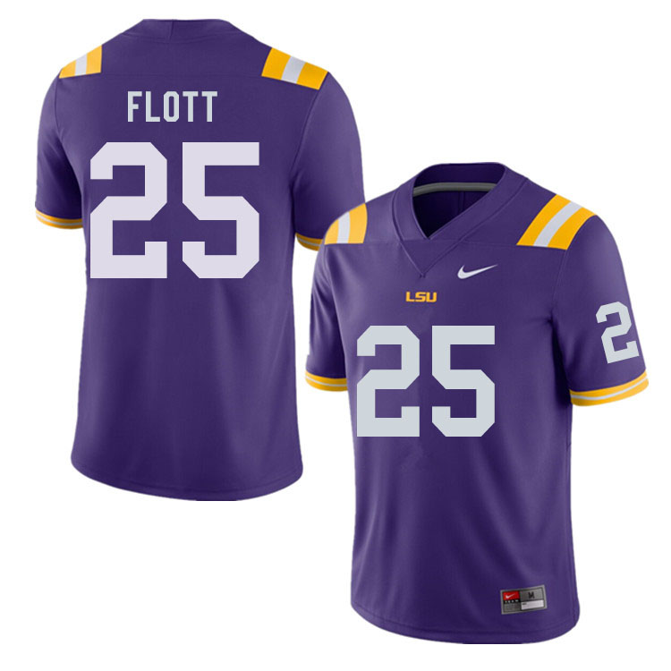 Men #25 Cordale Flott LSU Tigers College Football Jerseys Sale-Purple