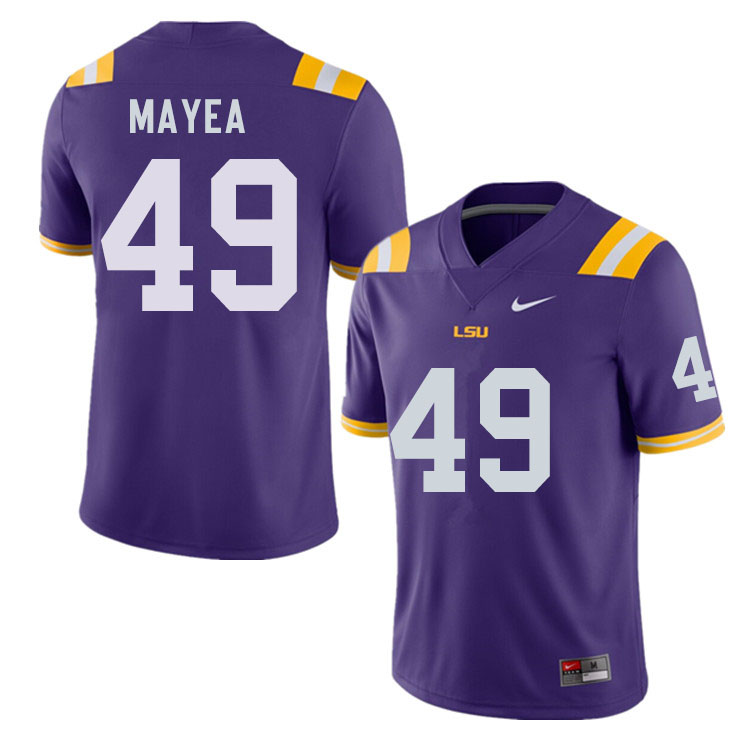 Men #49 Jansen Mayea LSU Tigers College Football Jerseys Sale-Purple