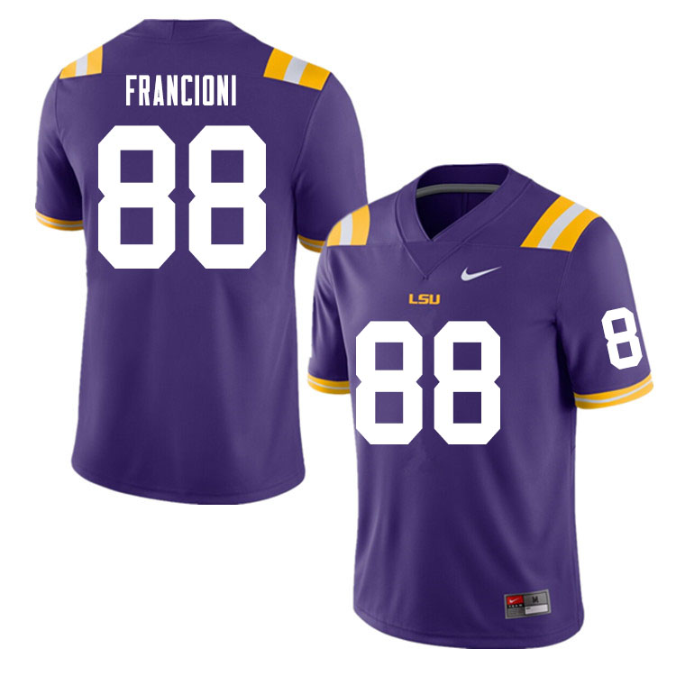 Men #88 Evan Francioni LSU Tigers College Football Jerseys Sale-Purple