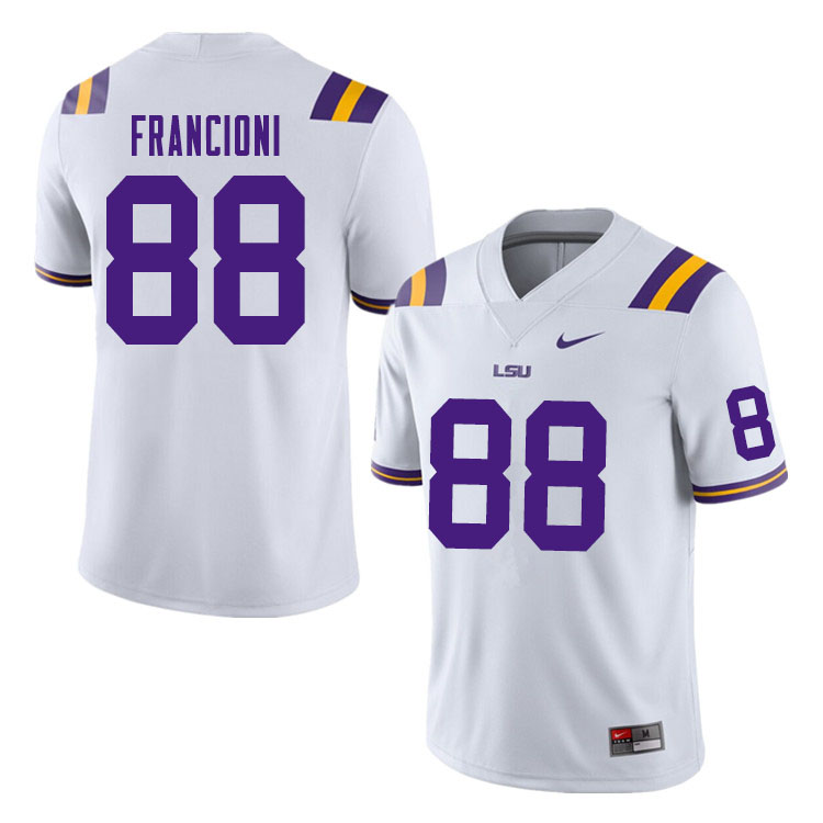 Men #88 Evan Francioni LSU Tigers College Football Jerseys Sale-White