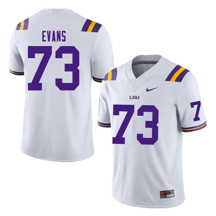 Men #73 Joseph Evans LSU Tigers College Football Jerseys Sale-White