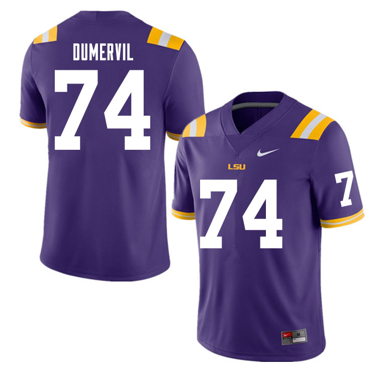 Men #74 Marcus Dumervil LSU Tigers College Football Jerseys Sale-Purple