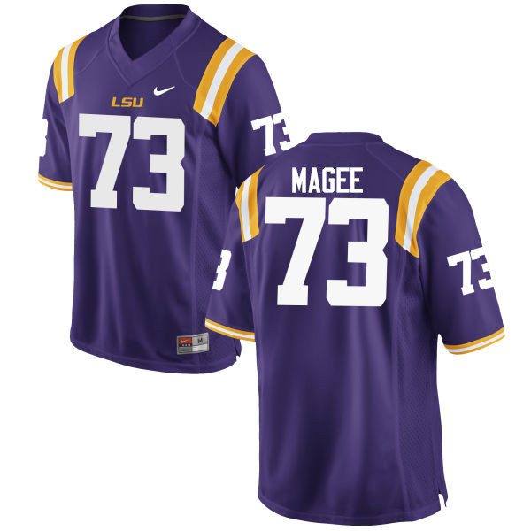 Men LSU Tigers #73 Adrian Magee College Football Jerseys Game-Purple