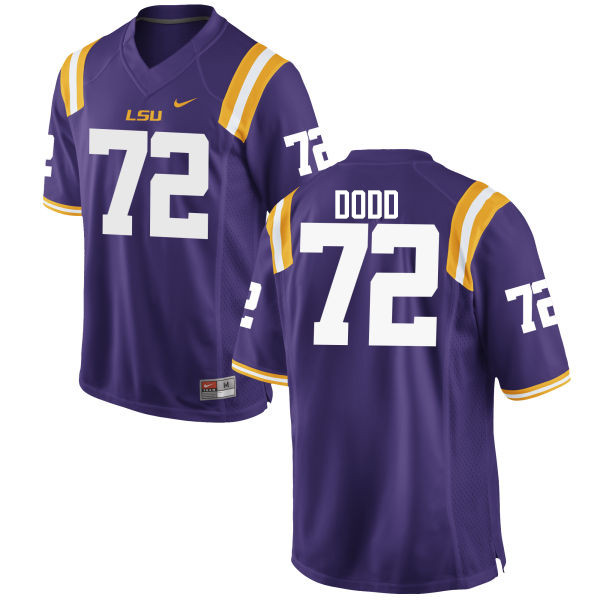 Men LSU Tigers #72 Andy Dodd College Football Jerseys Game-Purple