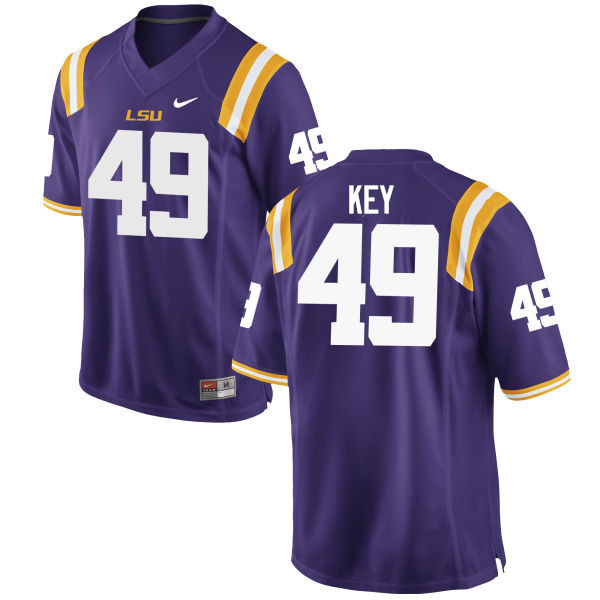 Men LSU Tigers #49 Arden Key College Football Jerseys Game-Purple