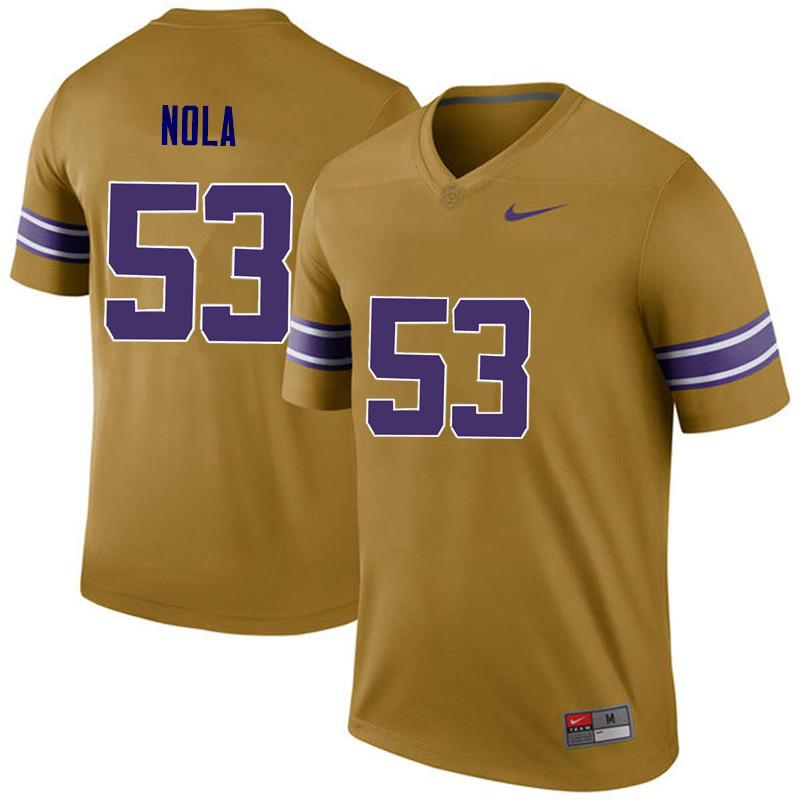 Men LSU Tigers #53 Ben Nola College Football Jerseys Game-Legend