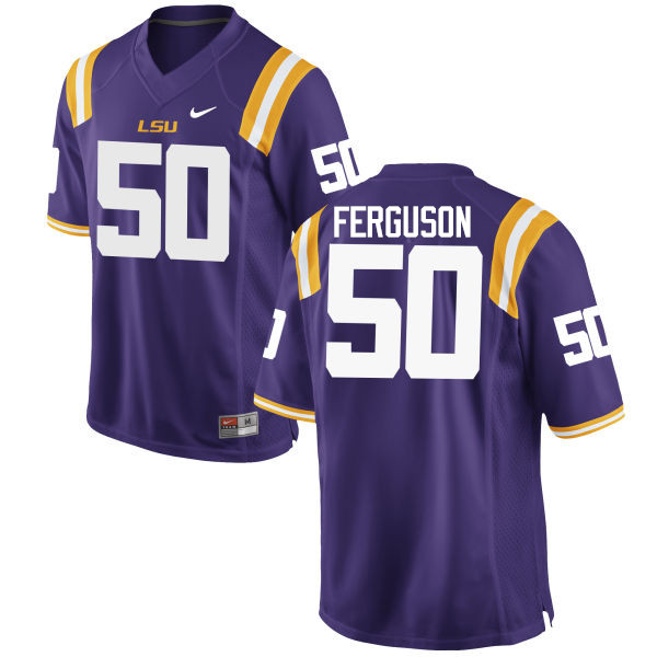 Men LSU Tigers #50 Blake Ferguson College Football Jerseys Game-Purple