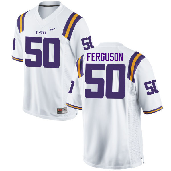 Men LSU Tigers #50 Blake Ferguson College Football Jerseys Game-White