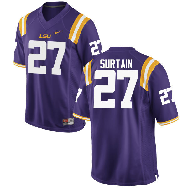Men LSU Tigers #27 Brandon Surtain College Football Jerseys Game-Purple