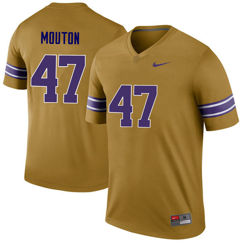 Men LSU Tigers #47 BryKiethon Mouton College Football Jerseys Game-Legend