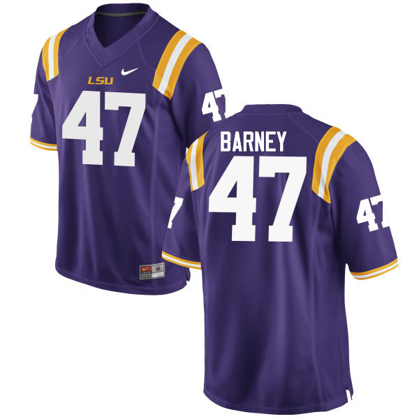 Men LSU Tigers #47 Chance Barney College Football Jerseys Game-Purple
