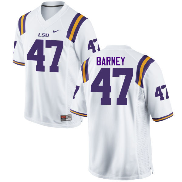 Men LSU Tigers #47 Chance Barney College Football Jerseys Game-White