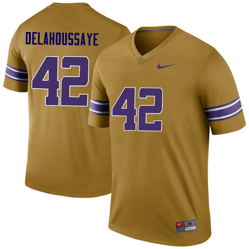 Men LSU Tigers #42 Colby Delahoussaye College Football Jerseys Game-Legend