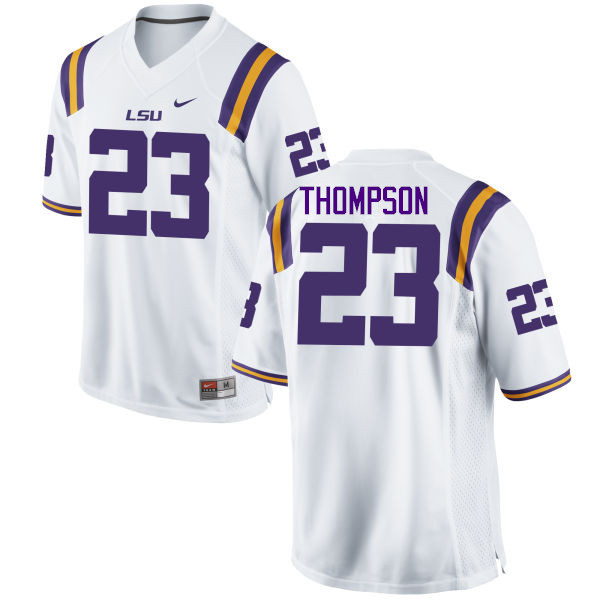 Men LSU Tigers #23 Corey Thompson College Football Jerseys Game-White