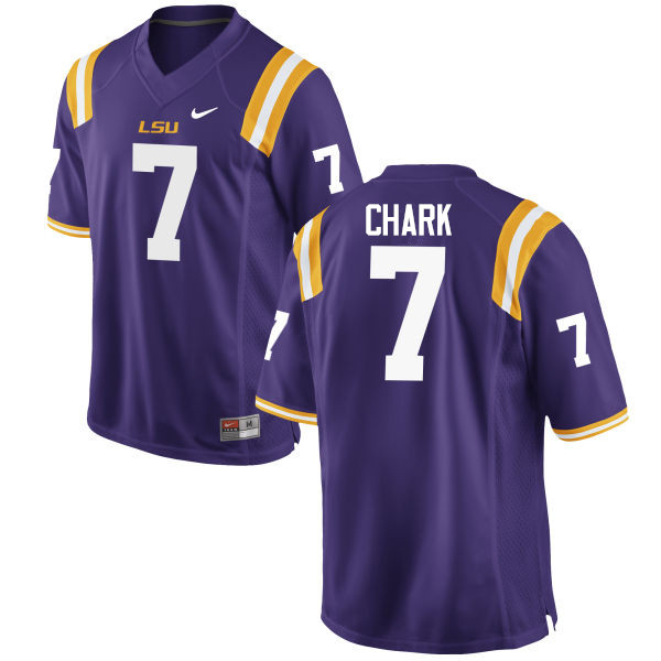 Men LSU Tigers #7 D.J. Chark College Football Jerseys Game-Purple