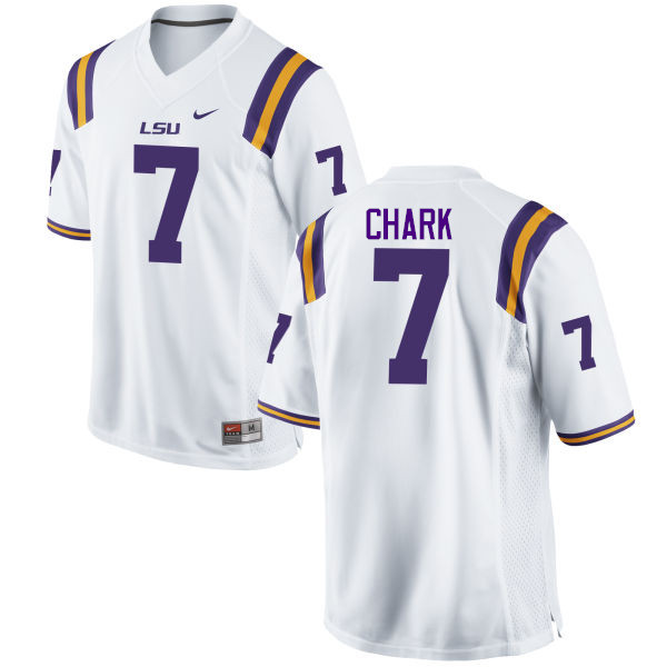 Men LSU Tigers #7 D.J. Chark College Football Jerseys Game-White