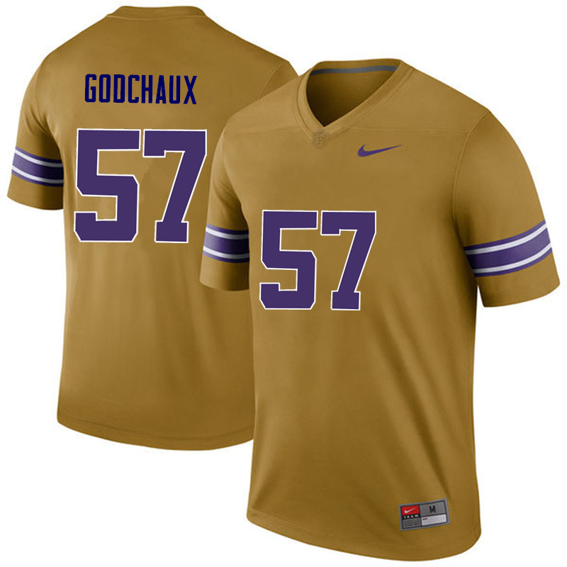 Men LSU Tigers #57 Davon Godchaux College Football Jerseys Game-Legend