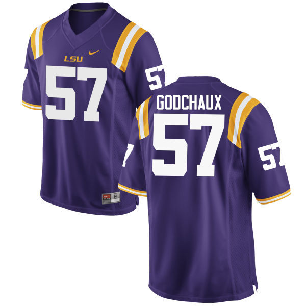 Men LSU Tigers #57 Davon Godchaux College Football Jerseys Game-Purple