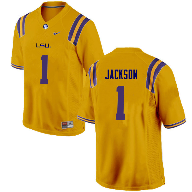Men LSU Tigers #1 Donte Jackson College Football Jerseys Game-Gold