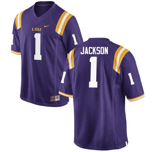 Men LSU Tigers #1 Donte Jackson College Football Jerseys Game-Purple