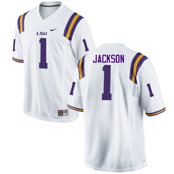 Men LSU Tigers #1 Donte Jackson College Football Jerseys Game-White