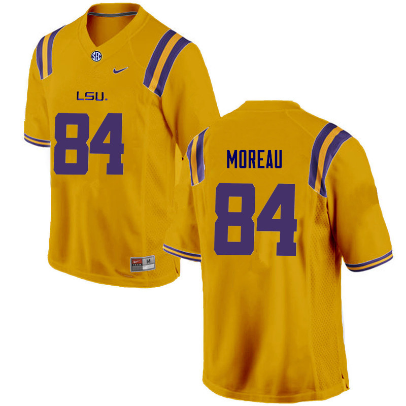 Men LSU Tigers #84 Foster Moreau College Football Jerseys Game-Gold
