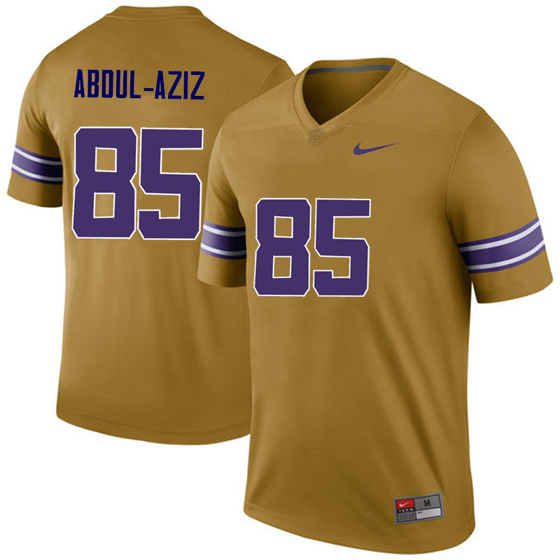 Men LSU Tigers #85 Jamil Abdul-Aziz College Football Jerseys Game-Legend