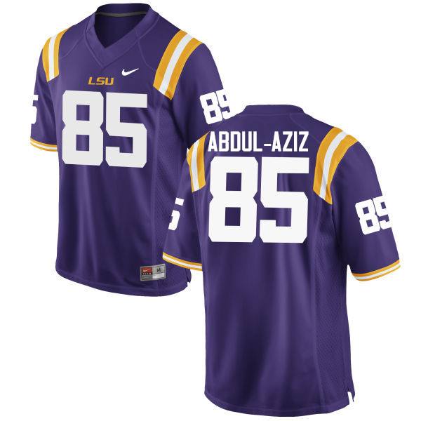 Men LSU Tigers #85 Jamil Abdul-Aziz College Football Jerseys Game-Purple