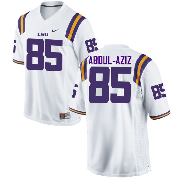 Men LSU Tigers #85 Jamil Abdul-Aziz College Football Jerseys Game-White