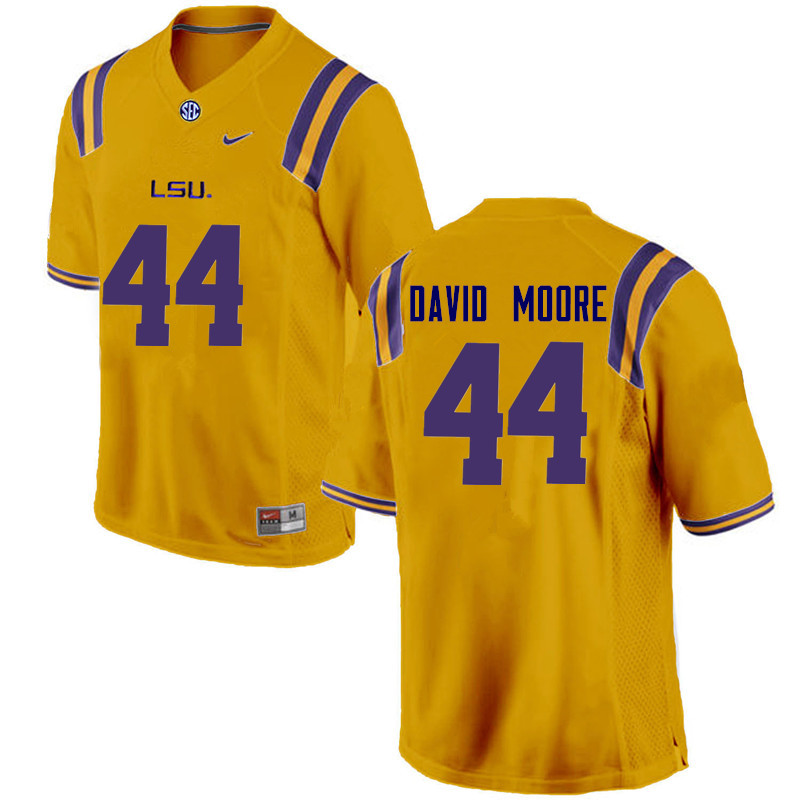 Men LSU Tigers #44 John David Moore College Football Jerseys Game-Gold