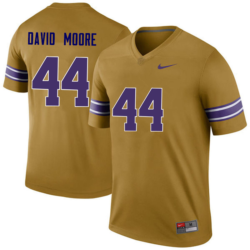 Men LSU Tigers #44 John David Moore College Football Jerseys Game-Legend
