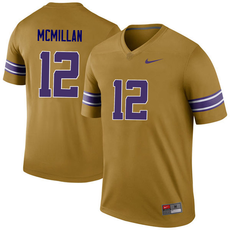 Men LSU Tigers #12 Justin McMillan College Football Jerseys Game-Legend