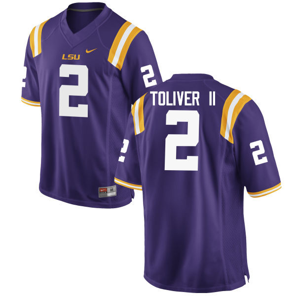 Men LSU Tigers #2 Kevin Toliver II College Football Jerseys Game-Purple