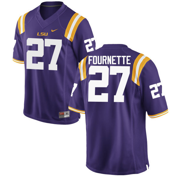 Men LSU Tigers #27 Lanard Fournette College Football Jerseys Game-Purple