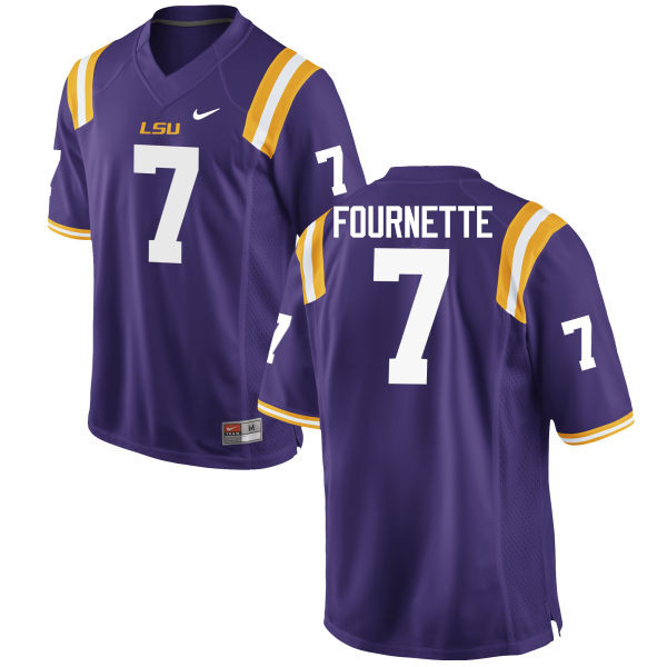 Men LSU Tigers #7 Leonard Fournette College Football Jerseys Game-Purple