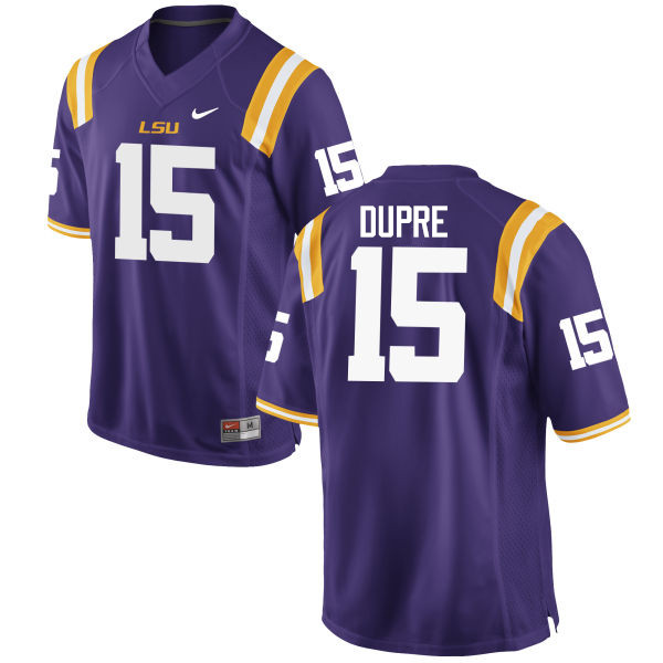 Men LSU Tigers #15 Malachi Dupre College Football Jerseys Game-Purple