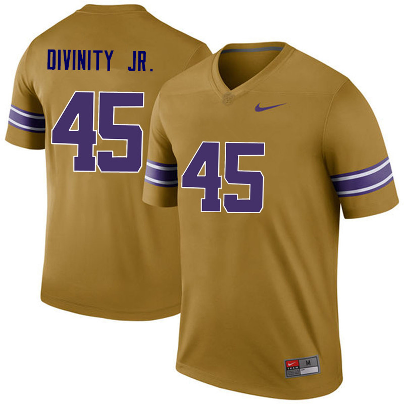 Men LSU Tigers #45 Michael Divinity Jr. College Football Jerseys Game-Legend
