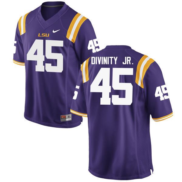 Men LSU Tigers #45 Michael Divinity Jr. College Football Jerseys Game-Purple