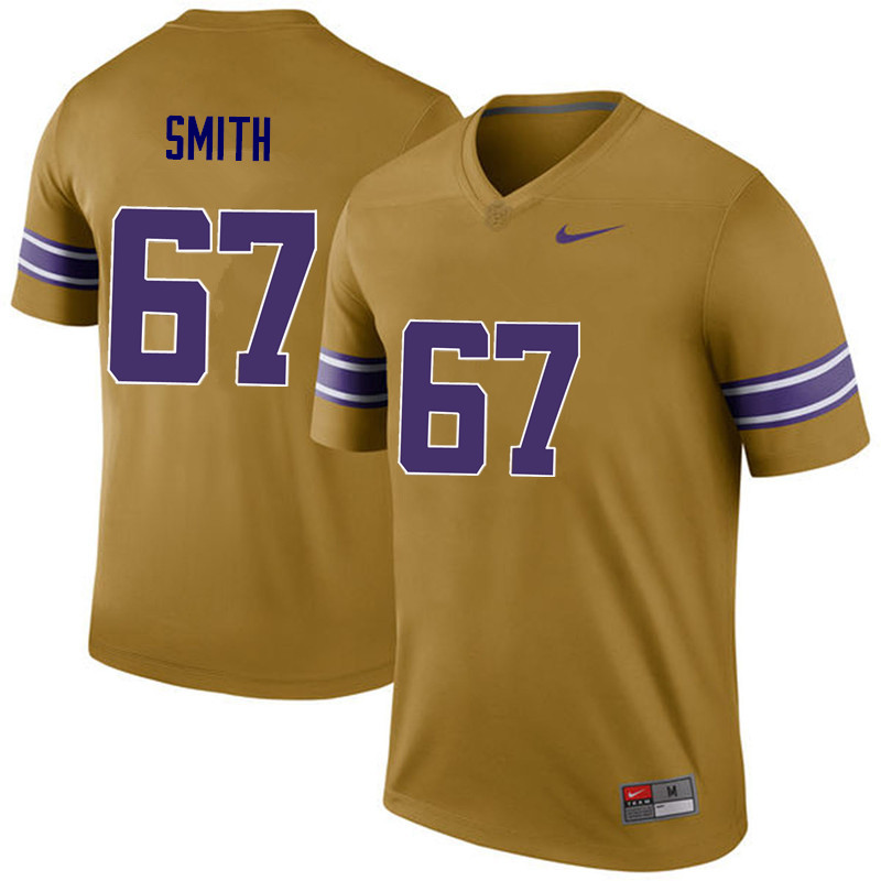 Men LSU Tigers #67 Michael Smith College Football Jerseys Game-Legend