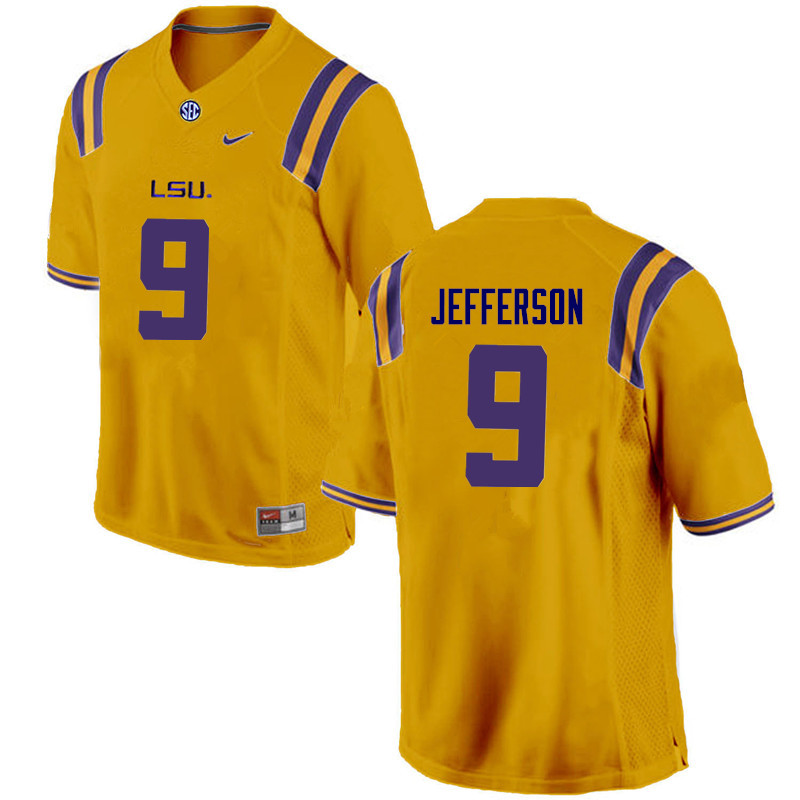 Men LSU Tigers #9 Rickey Jefferson College Football Jerseys Game-Gold
