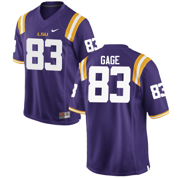 Men LSU Tigers #83 Russell Gage College Football Jerseys Game-Purple