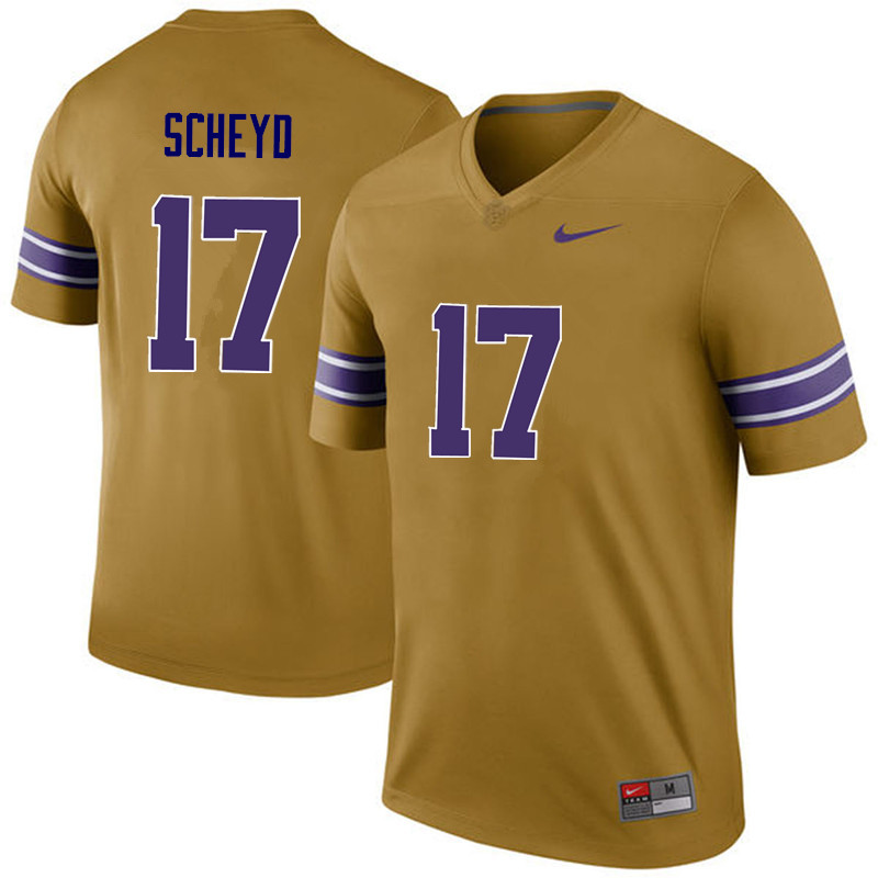 Men LSU Tigers #17 Tiger Scheyd College Football Jerseys Game-Legend