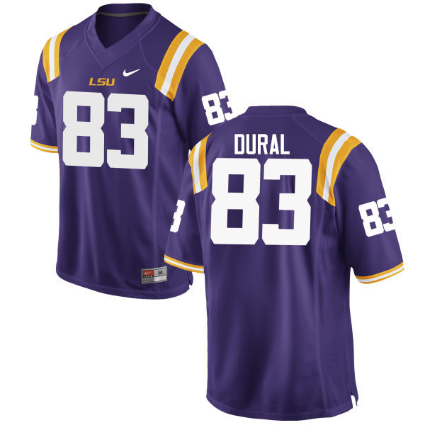Men LSU Tigers #83 Travin Dural College Football Jerseys Game-Purple