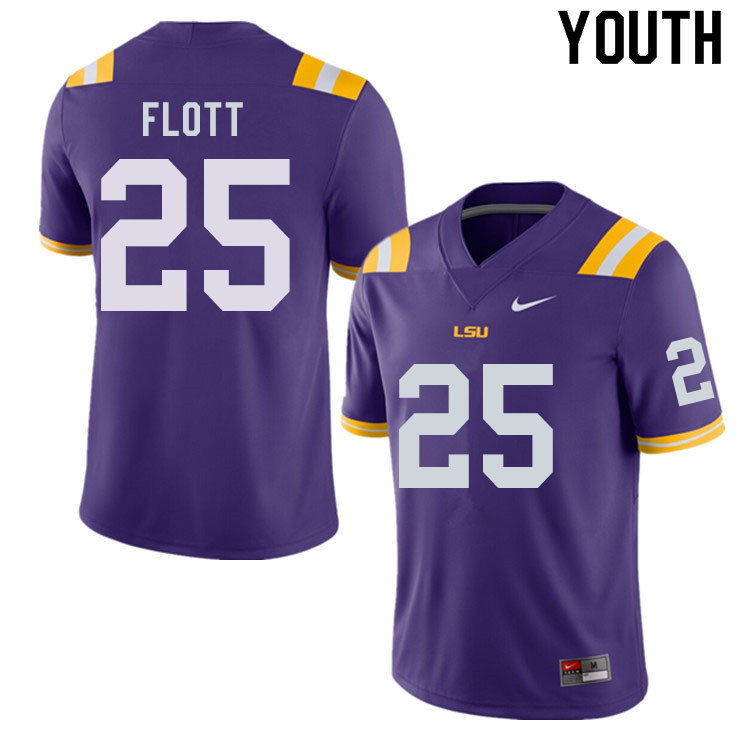 Youth #25 Cordale Flott LSU Tigers College Football Jerseys Sale-Purple