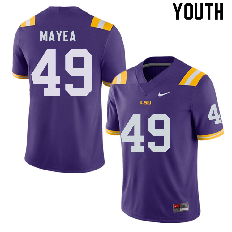 Youth #49 Jansen Mayea LSU Tigers College Football Jerseys Sale-Purple