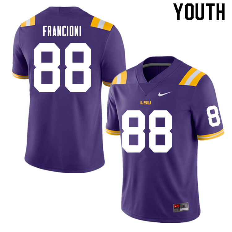 Youth #88 Evan Francioni LSU Tigers College Football Jerseys Sale-Purple