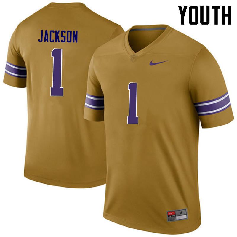 Youth LSU Tigers #1 Donte Jackson College Football Jerseys Game-Legend