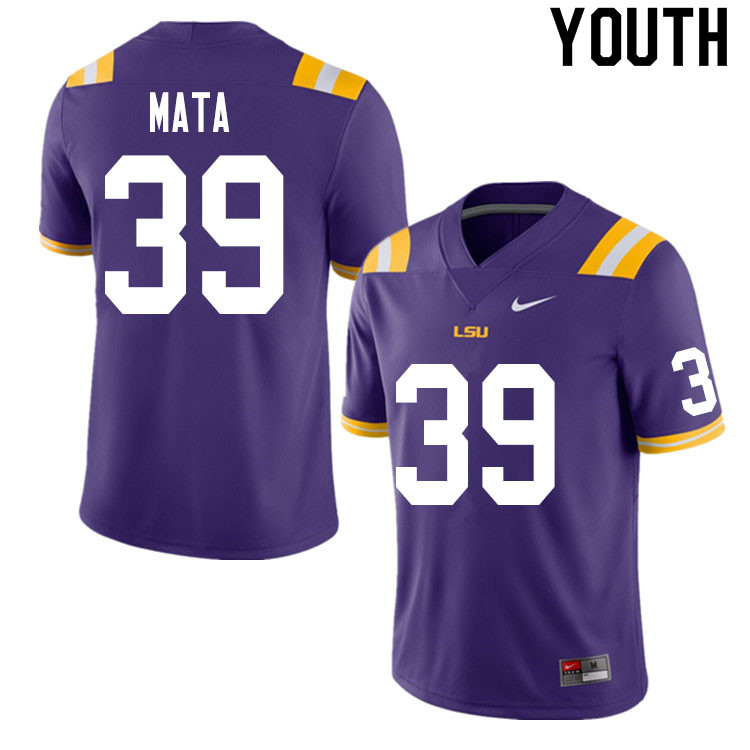 Youth #39 Ezekeal Mata LSU Tigers College Football Jerseys Sale-Purple