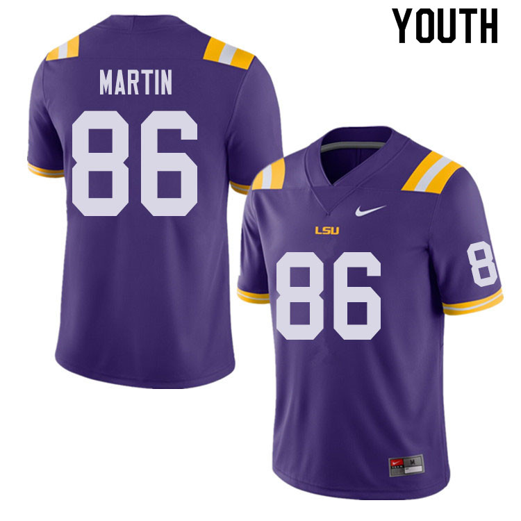 Youth #86 Michael Martin LSU Tigers College Football Jerseys Sale-Purple